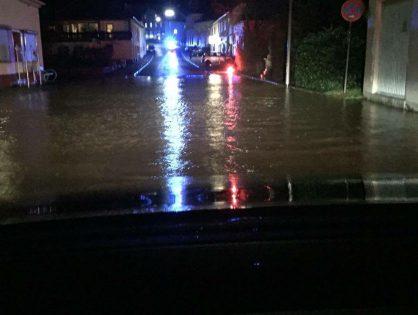 Unwetterbedingte Einsätze im Stadtgebiet Lebach