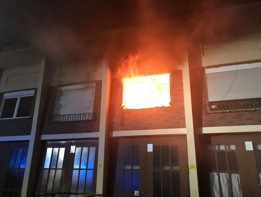 Brand eines Wohngebäudes in Lebach