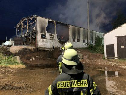 Brand auf Gresaubacher Bauernhof