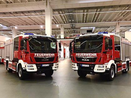 Ankunft der beiden neuen Löschgruppenfahrzeuge