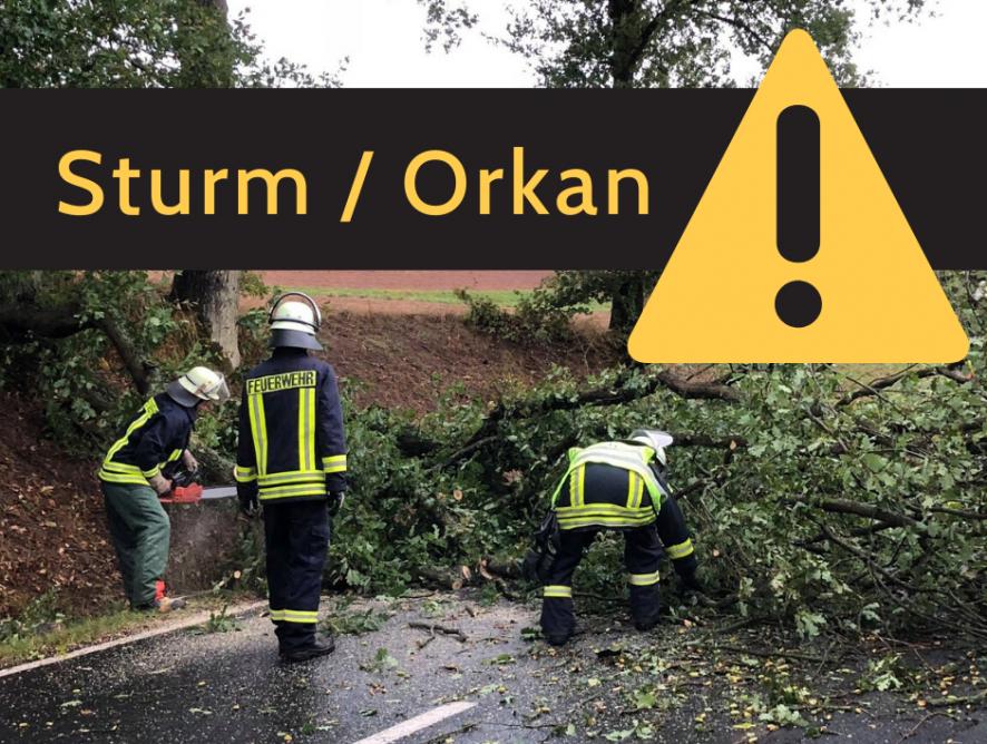 Bevölkerungsinfo: Orkan / Sturm